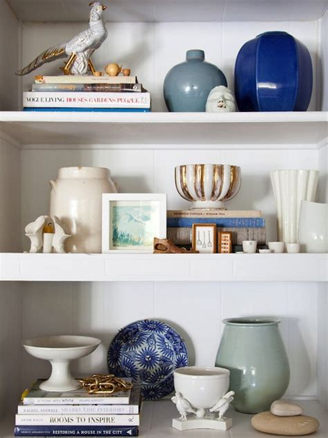 Essentials For Shelf Styling Room Styled Bookcase Contemporary Living Room Emily Henderson