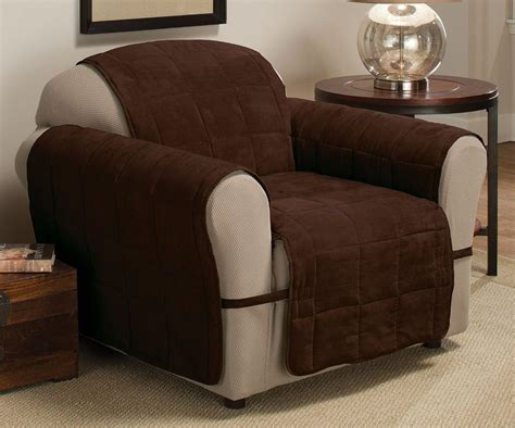 Ultimate Recliner Chair Ultimate Furniture Protector Pet Slip Cover Chair Recliner Chocolate Suede Ebay