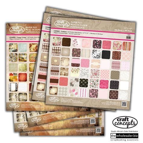 Craft Paper Pads - scrapbooking craft tools just arrived from artdeco