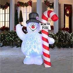 awesome 4 foot self inflating illuminated snowman holiday
