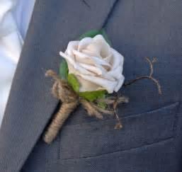 artificial champagne mocha rose wedding guest buttonhole