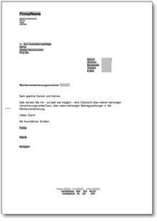 anfrage bei der rentenkasse rentenversicherung at musterbrief