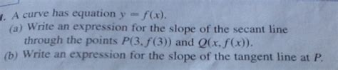 calculus i tangent lines and rates of change