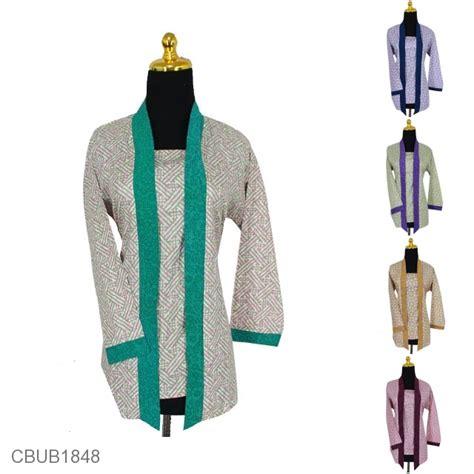 Blus Batik Kutu Baru Embos Kode Ba6633 blus batik kutu baru panjang motif bunga anyam warna