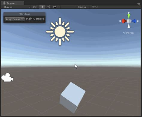 guilayout button unity unityエディター拡張 align view to selected を sceneビューから実行するボタンを