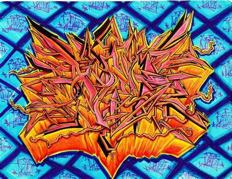 graffiti wildstyle fire por rickfriky dibujando