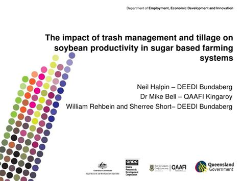 product design effect on productivity the impact of trash management and tillage on soybean