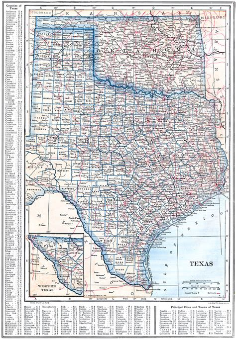 oklahoma texas map texas and oklahoma
