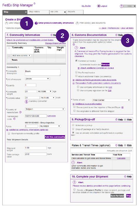 Proforma Rechnung Muster China Wie Sie Die Internationalen Versanddokumente Ausf 252 Llen Fedex Deutschland
