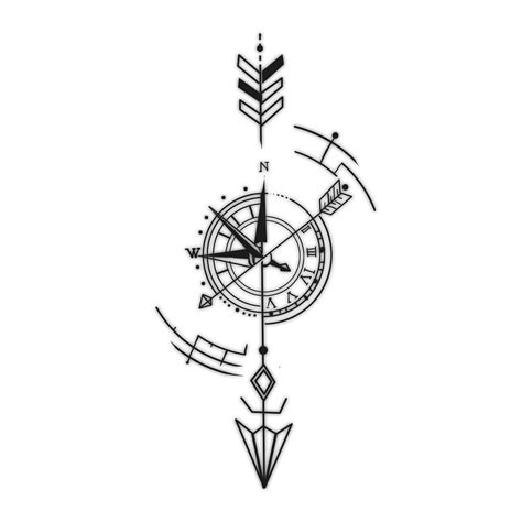 arrow compass tattoo precise timing custom designs and
