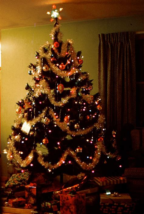 christmas tree in 1970s tree 1970 evintagephotos