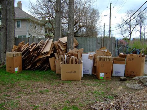 april 2011 broadway community garden cardboard from office furniture mart broadway community