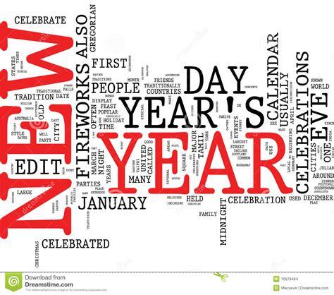 new year another name nuvem da palavra do ano novo imagens de stock imagem
