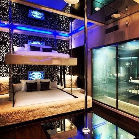 bedroom stripper poles wow adult bunkbeds and is that a pool to dance nice