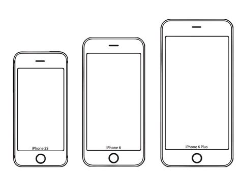 iphone cut out template test the iphone 6 screen size yourself with these paper models