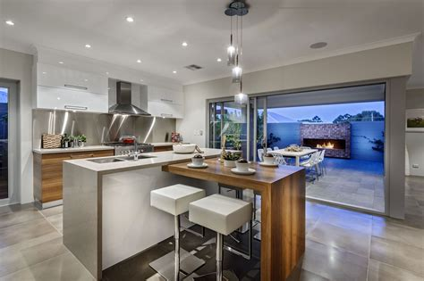 Kitchen Island Bar Lights Kitchen Island Breakfast Bar Pendant Lighting Glass Sliding Doors Modern Home In Wandi Perth