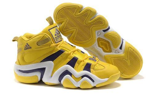 cheap yellow purple white adidas crazy  lakers
