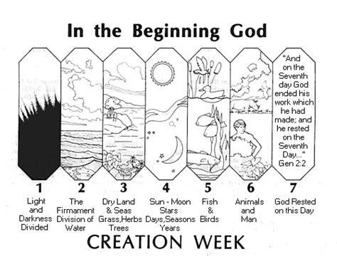 creation coloring pages for kindergarten creation mystery of history volume 1 lesson 1 mohi1