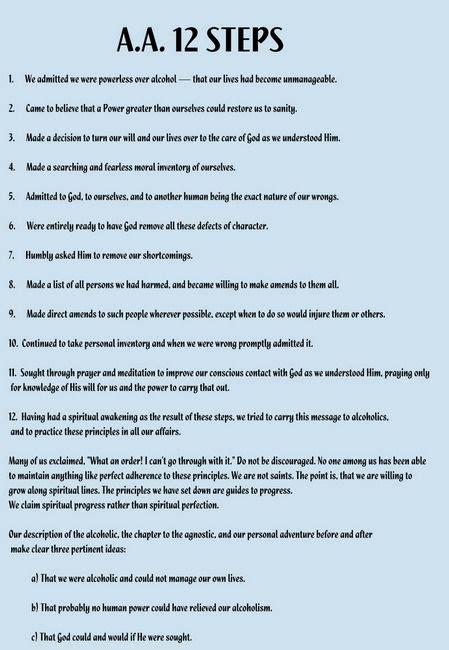 printable version of aa 12 steps 12 steps of aa worksheets worksheet ixiplay free resume