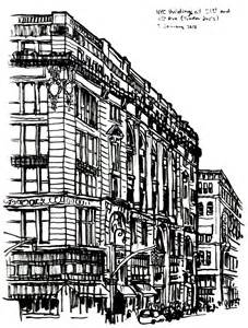 pencil drawings buildings building sketch stock photos nyc buildings sketch 3 january 2013 handmade ransom notes