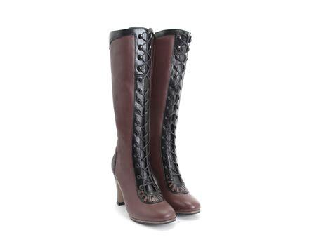 fluevog boots fluevog shoes shop purity burgundy lace up