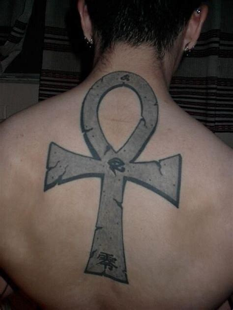 egyptian ankh tattoo designs ankh on back