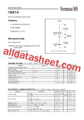 1n914 diode datasheet pdf 1n914 datasheet pdf formosa ms