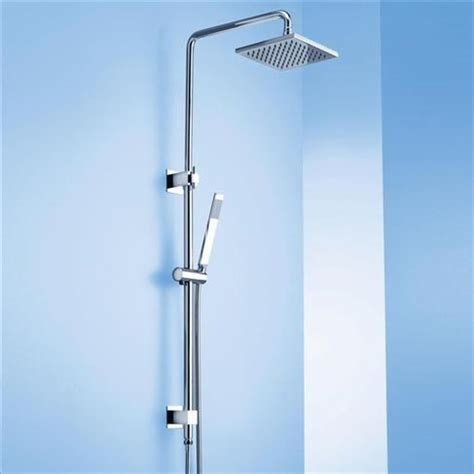 bath shower rails caroma track bathroom wels wall rail shower with overhead chrome square