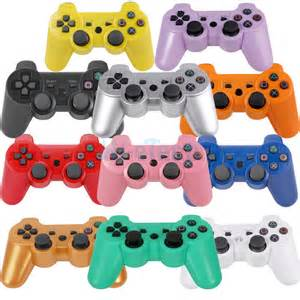 ps3 colors new wireless shock bluetooth console controller for