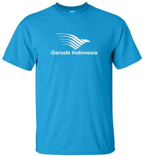 Tshirt Garuda Indonesia White garuda indonesia retro logo airline aviation t