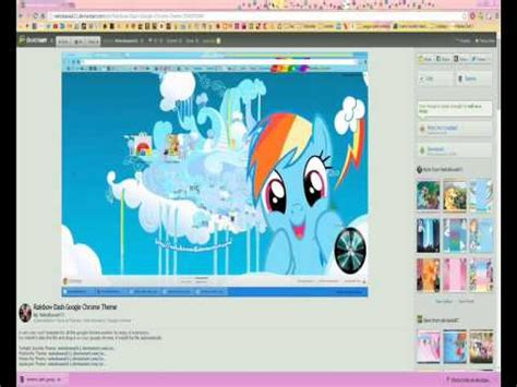 theme google chrome my little pony how to install my little pony google chrome themes