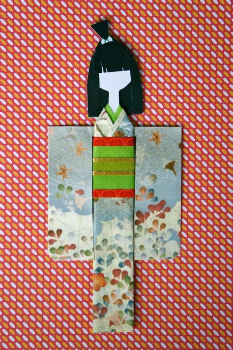 Origami Paper Dolls - my kimono paper doll origami kimonos