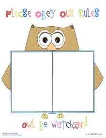 templates for the classroom classroom freebies owl anchor chart