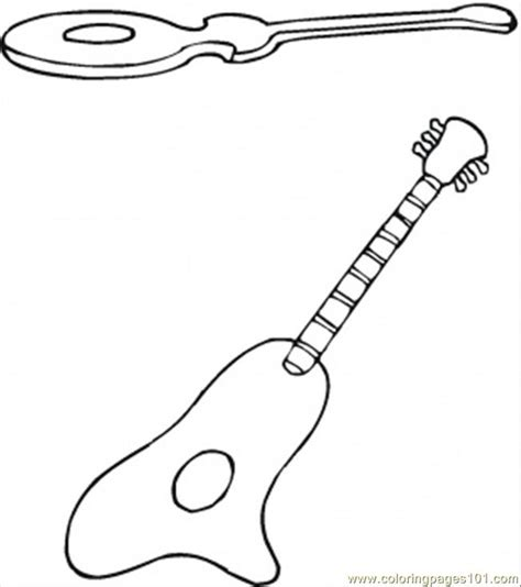spanish guitar coloring page spanish guitars coloring page free instruments coloring