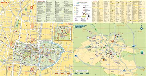 troyes map troyes tourist map