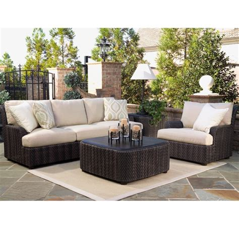 woodard aruba 4 piece wicker patio set wc aruba set2