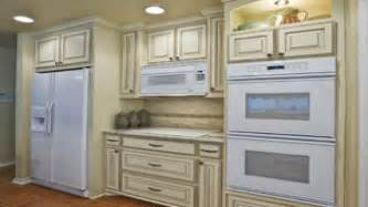 Short Kitchen Cabinets Antique White Kitchen Cabinets With White Appliances Off