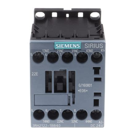 Contactor Siemens 22e 3rh2122 1bb40 sirius innovation 3rh2 contactor 2no 2nc