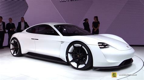 new porsche electric porsche mission e electric concept car turnaround