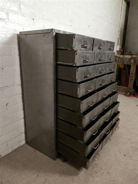 industrial looking cabinet industrial style 27 drawer cabinet at 1stdibs