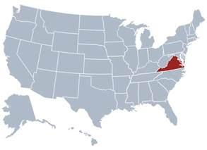 us map va virginia state information symbols capital