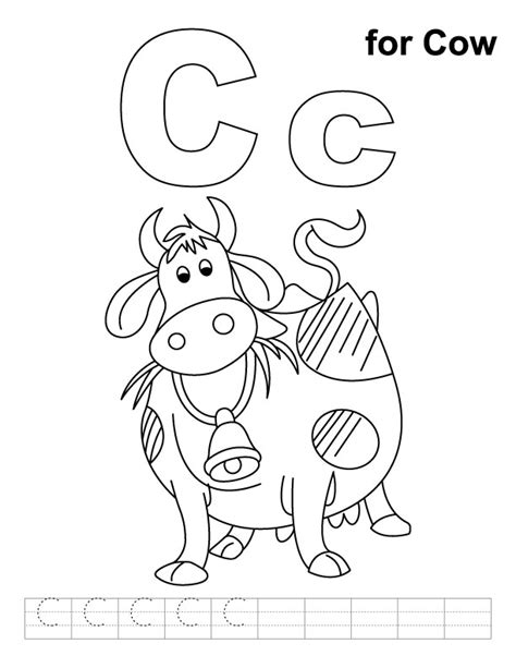C Coloring Pages Preschool by Free Letter C Worksheet Coloring Pages