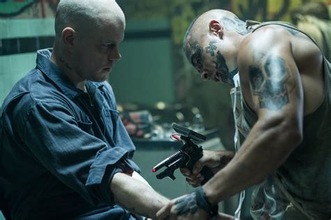 matt damon tattoo elysium an all real dystopian vision of the future
