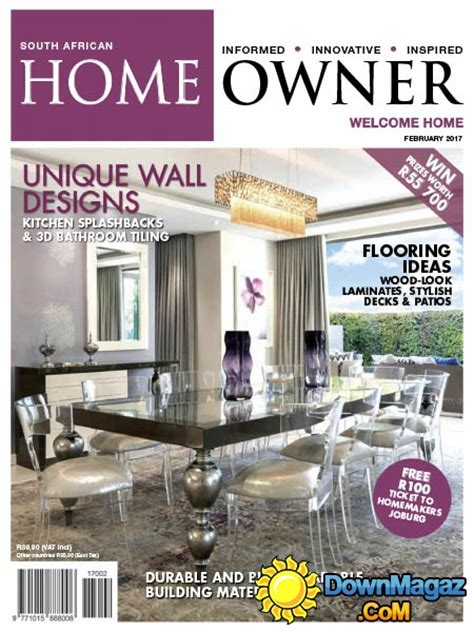 home decor magazines south africa south african home owner 02 2017 187 download pdf