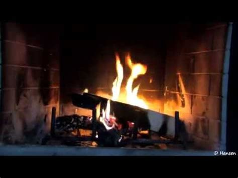 Picture Of Fireplace Burning by 1 Hour Burning Logs In Fireplace In Hd