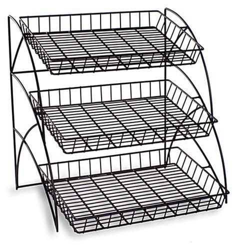 3 wire tray display rack food retail display