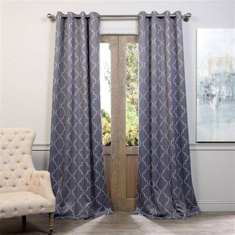 Silver Blackout Curtains Exclusive Fabrics Furnishings Seville Grey And Silver Grommet Blackout Curtain 50 In W X 96