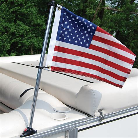 boat t top flag pole boat flag pole kit with us sewn flag