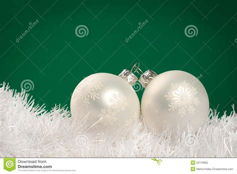 white christmas baubles stock photography image 22179952