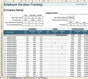 vacation tracker template 12 employee tracking templates excel pdf formats